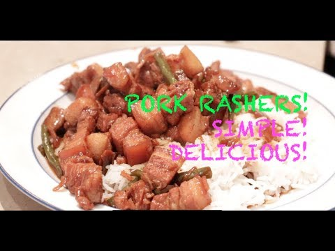 Simple Delicious! PORK RASHERS Recipe! (Resep Daging Babi Pork Belly)