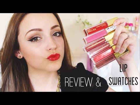 Review/ Lip Swatches- Milani Brilliant Shine Lip Glosses