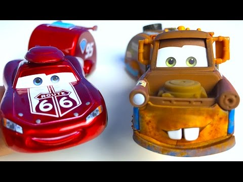 DISNEY CARS ROAD TRIP COLLECTION CRUISIN' LIGHTNING MCQUEEN & TRAILER AND MATER & TRAILER - UNBOXING