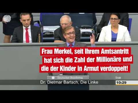Dietmar Bartsch: Unter Merkel hat sich die Zahl der Millonäre und der Kinder in Armut verdoppelt