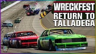 RETURN TO TALLADEGA!   Wreckfest   NASCAR Legends Mod