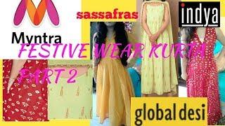 Myntra festive wear kurta Shopping  haul part2 /myntra ethnic kurta try on haul2018
