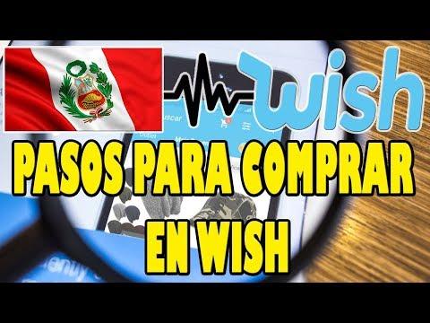 PASOS PARA COMPRAR EN WISH DESDE PERU