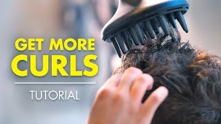 Get More CURLS  | How To Style Curly Or Wavy Hair