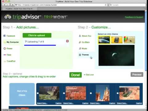 How to create a free slideshow with music by TripAdvisor TripWow