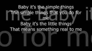 Joey Diamond - Simple Things Lyrics