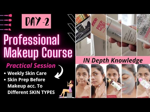 DAY 2 | ❗ONLINE MAKEUP COURSE | SKIN PREP BEFORE MAKEUP |Complete SELF Professional Makeup Course