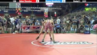 Cadet 120 - Dylan Thurston (Illinois) vs. Mason Daugherty (Ohio)
