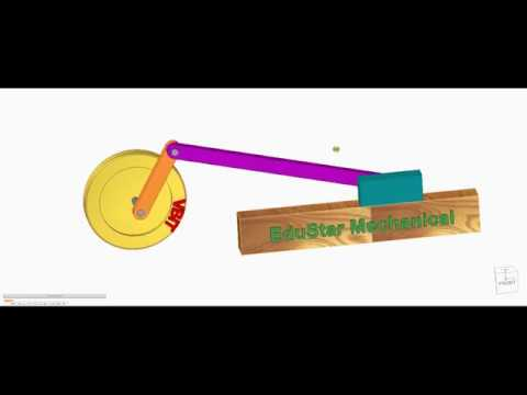 single slider crank mechanism || how to make slider crank