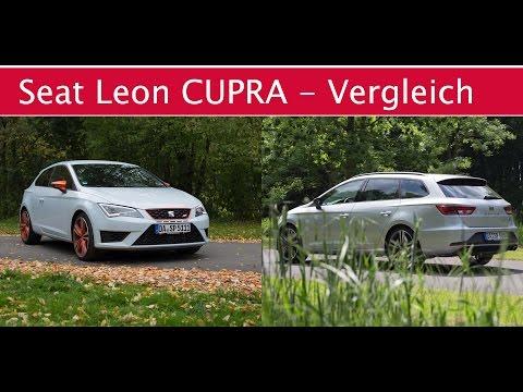 Fahrbericht / Vergleich: Seat Leon CUPRA Familie (Leon SC Cupra 280)