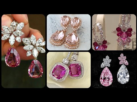gorgeous diamonds and ruby bridal earrings styles 2019