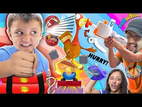 LOSERS GO BOOM Challenge! 😄 (FV Family Funny Game Night)