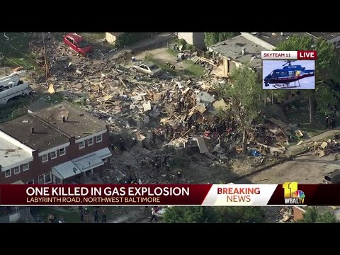 Baltimore explosion: Woman dead, 6 seriously injured