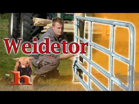 Montage Weidetor - Highland Stall & Weide