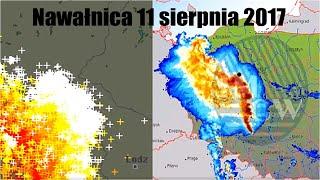 Nawałnica | Bow Echo/Derecho | Kujawsko - Pomorskie | Najpotężniejsza Burza Od 89 Lat! - 11.08.17 R.