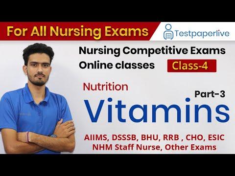 Vitamin Part-3   Nutrition   Nursing online Classes   Nursing Officer & Staff Nurse by Testpaperlive