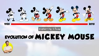 Evolution of MICKEY MOUSE - 90 Years Explained   CARTOON EVOLUTION