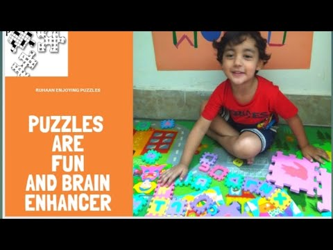 Fun with puzzles | Ruhaan enjoying puzzles | Ruhaan's world