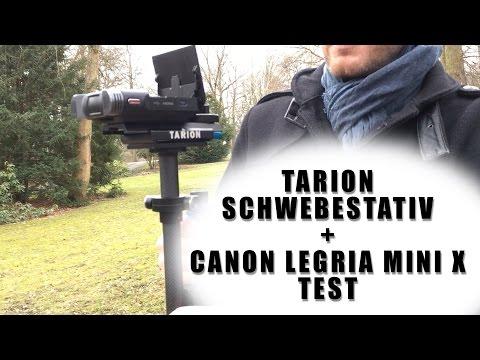 Günstiges Tarion Schwebestativ mit Canon Legria Mini X nutzen