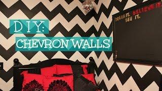 DIY: Chevron Walls - KinaaSmallss