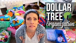 DOLLAR TREE ORGANIZATION OF KIDS ROOM // Fitting THREE Kids In One Room