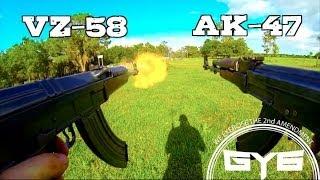 AK 47 Vs VZ 58FULL AUTO