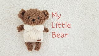 How to knit doll-Little Bear-part1  knitting doll,hand made doll