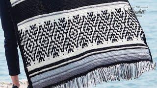 Crochet Nordic Stripes Blanket Pattern