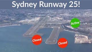 Sydney Runway Closure! Qantas A330 Turbulent Landing. East / West Runway 25 In Heavy Wind.