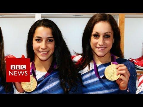 Gold medallists face their abuser – BBC News