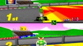 Myles ~ Mario Kart 64 - Royal Raceway 150CC Star Jump Shortcut