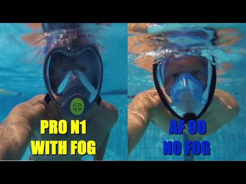 SEABEAST AF90 & Pro-N1 anti fog mask to snorkel and swim FULL REVIEW & TRY ON