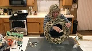 DIY Driftwood Beach Wreath