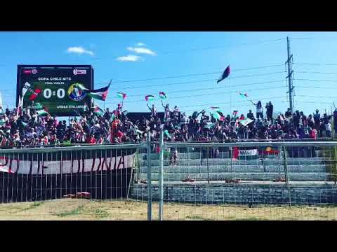 """""""EL ALIENTO DE LOS BAISANOS EN LA FINAL DE COPA CHILE 2018 vs audax."""" Barra: Los Baisanos • Club: Club Deportivo Palestino"""