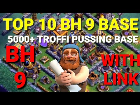 Top 10 Builderhall 9 bases with link || Best BH troffi pussing bases|| Clash of clans