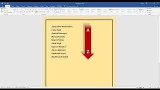 How To Sort A List Of Names Alphabetically In Word
