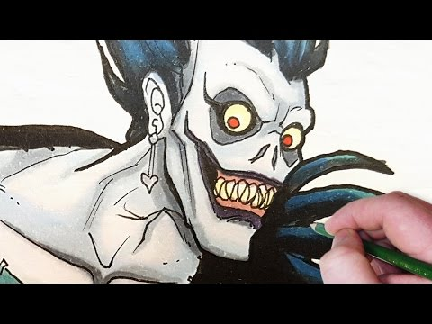 Let's Draw DEATHNOTE characters! (Ryuk, Light and L)