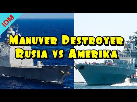 Manuver Destroyer Udaloy class Rusia vs Amerika - Berita Militer Terbaru