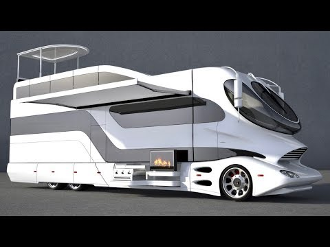 Most Insanely Luxurious RV In The World - EleMMent Palazzo With Sky Lounge