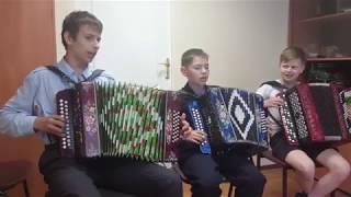 Ученики баяниста  Евгения Попова Перевоз Дуня держала(р.н.п.)