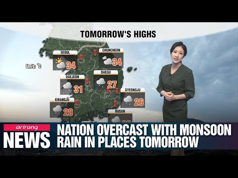 Nation overcast with monsoon rain in places tomorrow _ 071819