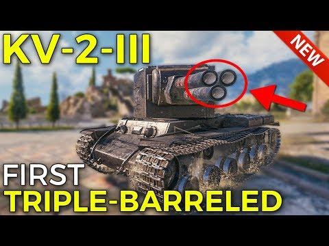 New KV-2-III, First Triple-Barreled Tank | World of Tanks KV-2-III Preview