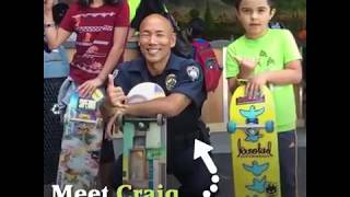 This is how its done, this officer is part of the community a true peace officer
