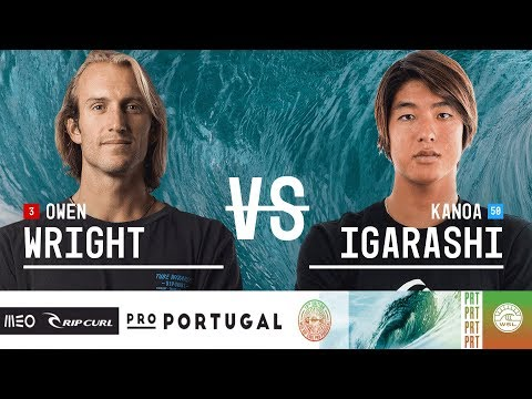 Owen Wright vs. Kanoa Igarashi - Quarterfinals, Heat 4 - MEO Rip Curl Pro Portugal 2018