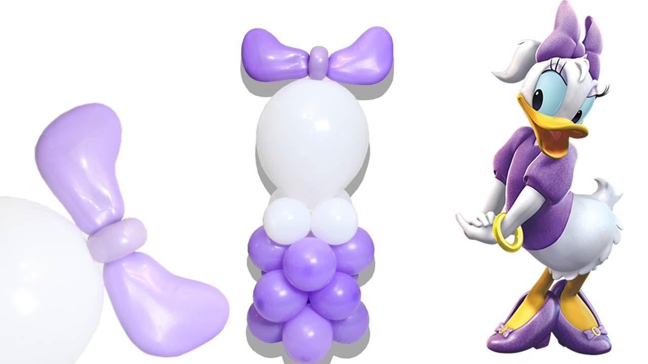 Realiza La Bella Pata Daisy en Globos, Duck, Personaje Disney DIY