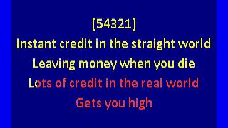 Young Marble Giants - Credit in the Straight World (karaoke)