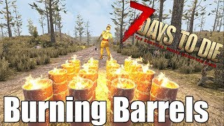 7 Days to Die - Burning Barrels vs Zombies  Heat Map