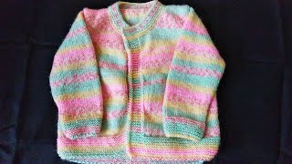 Baby Sweater Knitting Pattern and Measurement For 1 year To 1.5 Year | Natural Style Hindi
