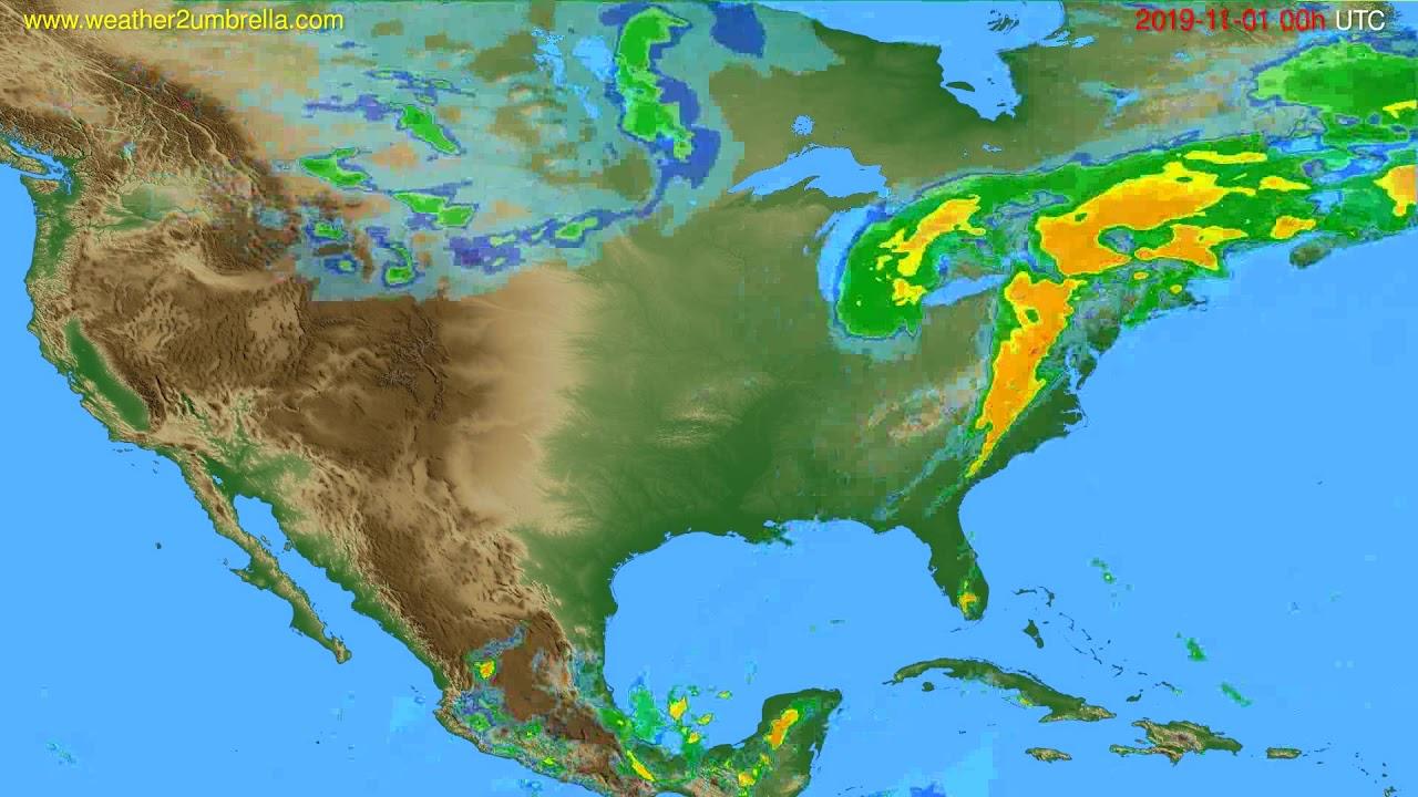 Radar forecast USA & Canada // modelrun: 12h UTC 2019-10-31