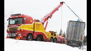 Snow Chaos at Silverhöjden - Heavy Recovery Sweden 4K